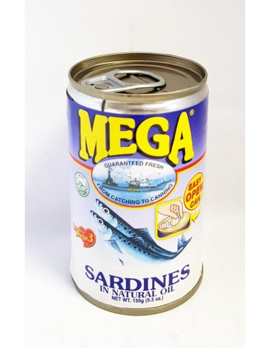 MEGA SARDINES IN NATURAL OIL - 155g