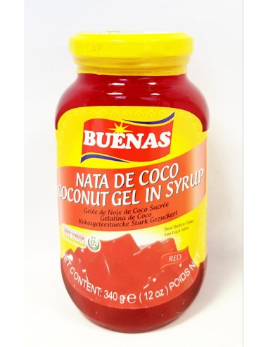 BUENAS RED COCONUT GEL IN SYRUP - 340g