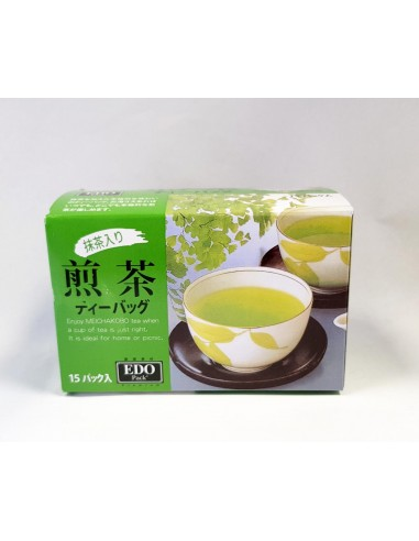 EDO SENCHA TEA BAG W/GREEN TEA POWDER...