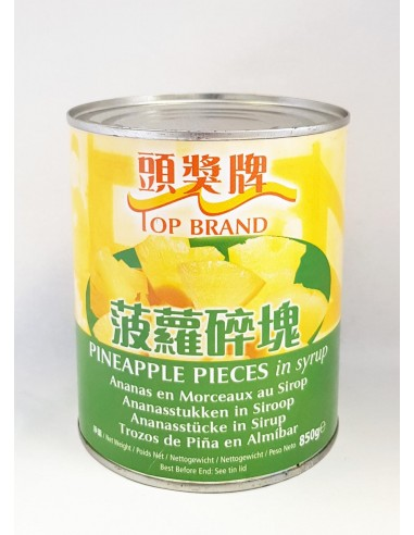 TOP BRAND PINEAPPLE PIECES IN SYRUP -...