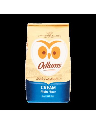 Unbleached Cream Plain Flour - 2kg - Odlums
