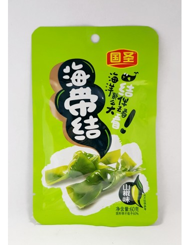 GS PRESERVED SEAWEED KNOT-SPICY - 60g