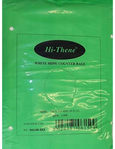 10 X 12'' WHITE FREEZER BAG 1000