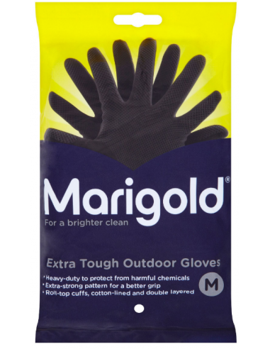 MARIGOLD BLACK GLOVES MEDIUM - 6PAIRS