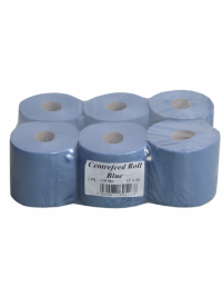 BLUE CENTREFEED 2PLY - 6 Rolls