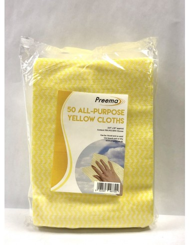 PREEMA 50 ALL PURPOSE YELLOW CLOTHS