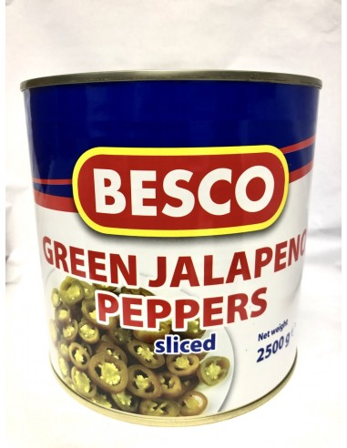 BESCO GREEN JALAPENO PEPPERS - 2.5kg
