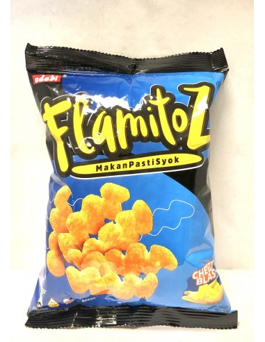 FLAMITOZ CHEESE FLAVOURED CORN SNACKS...
