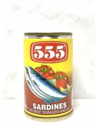 555 SARDINES IN HOT TOMATO...