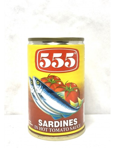 555 SARDINES IN HOT TOMATO SAUCE - 155g