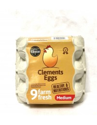 CLEMENT EGGS MEDIUM 9 FARM...