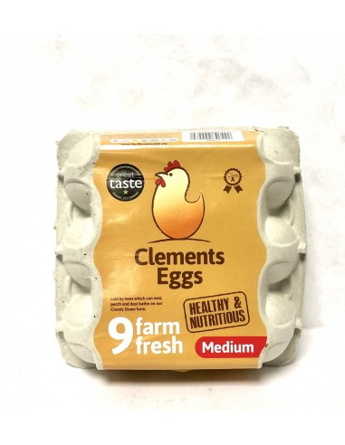 CLEMENT EGGS MEDIUM 9 FARM FRESH