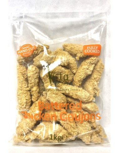 VISTA BATTERED CHICKEN GOUJONS - 1KG