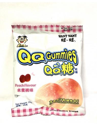 WANT WANT QQ GUMMIES PEACH FLAVOUR - 25g