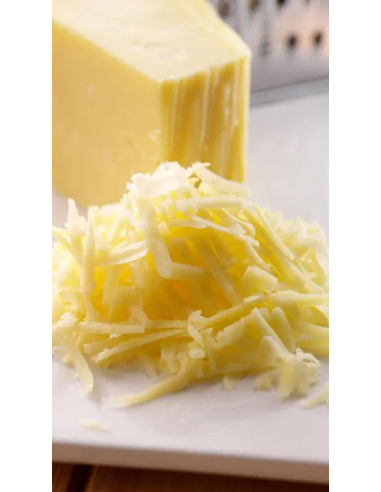 GRATED WHITE CHEDDAR CHEESE 1KG