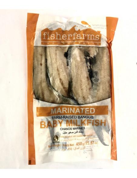 FISHER FARMS BABY SPLIT MARINATED MILKFISH/BANGUS - 450g