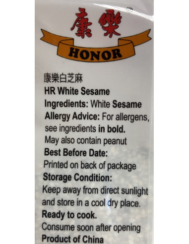 HONOR WHITE SESAME SEEDS - 100g