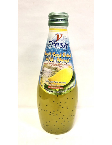 V-FRESH MANGO DRINK WITH BASIL SEEDS - 290ml