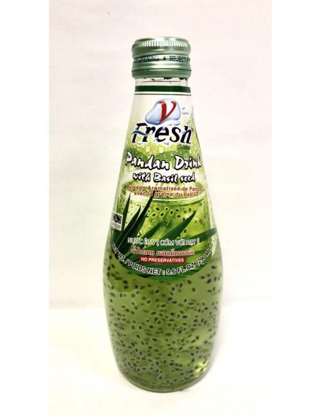 V-FRESH PANDAN JUICE DRINK WITH BASIL SEEDS - 290ml