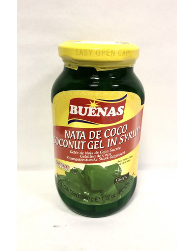 BUENAS COCONUT GEL IN SYRUP GREEN- 340g