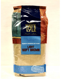 TATE LYLE LIGHT SOFT BROWN SUGAR - 3KG