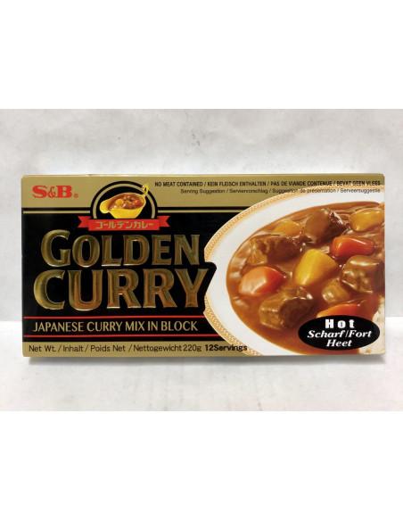 GOLDEN CURRY HOT CURRY SAUCE MIX - 220g