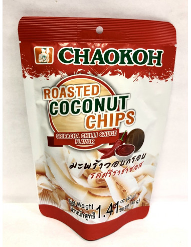 CHAOKOH ROASTED COCONUT CHIPS SRIRACHA CHILLI SAUCE FLAVOUR - 40g