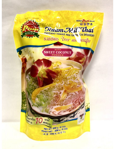 MADAM PUM INSTANT THREE MIX TAPIOCA DESSERT WITH SWEET COCONUT POWDER - 230g