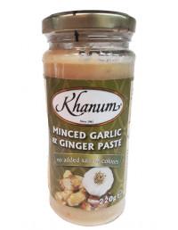 Khanum Minced Garlic & Ginger - 220g