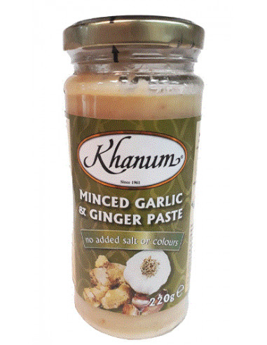 Khanum Minced Garlic & Ginger - 220g