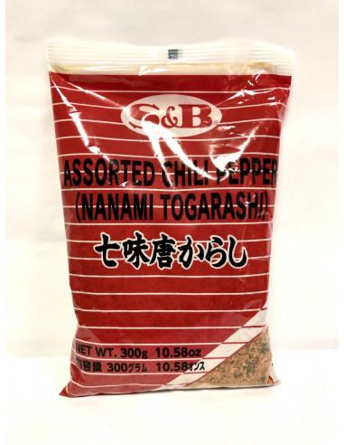 S&B ASSORTED CHILI PEPPER (NANAMI TOGARASHI) - 300g