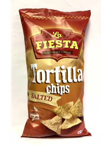 FIESTA TORTILLA CHIPS SALTED FLAVOUR - 450g