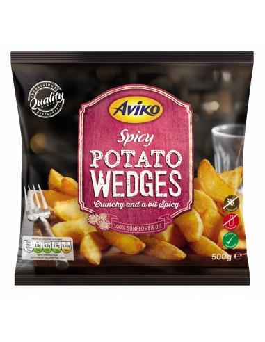 AVIKO SPICY POTATO WEDGES - 500gm