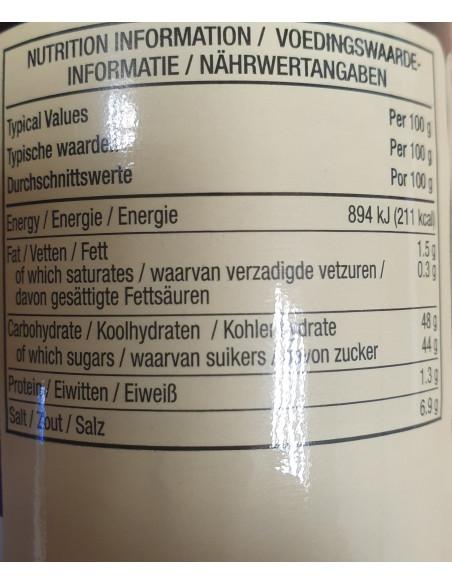 Sweet How Sin Sauce - Plastic bottle 567g - Lee Kum Kee - Nutritional