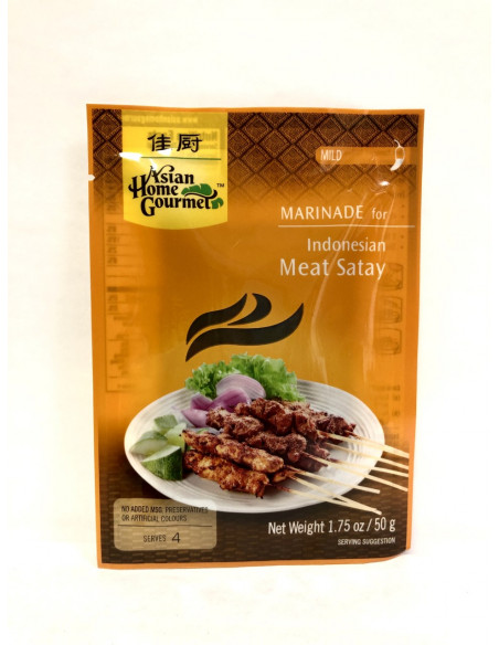 ASIAN HOME GOURMET MARINADE FOR INDONESIAN MEAT SATAY - 50g