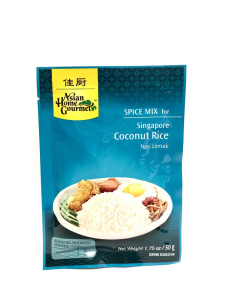 ASIAN HOME GOURMET SPICE MIX FOR SINGAPORE COCONUT RICE - 50g