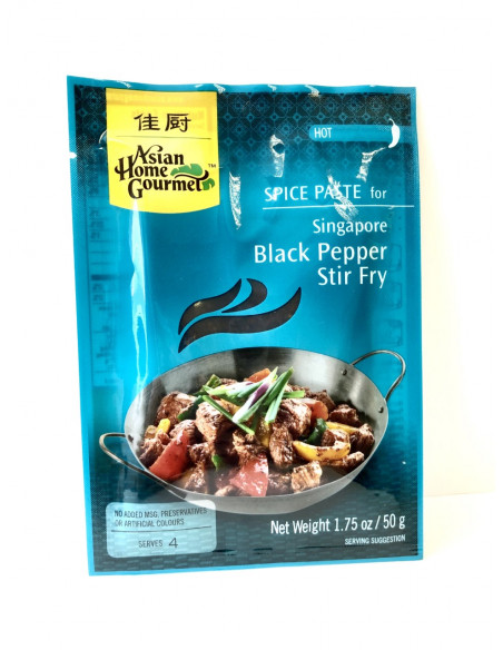 ASIAN HOME GOURMET SPICE PASTE FOR SINGAPORE BLACK PEPPER STIR FRY - 50g