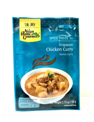 ASIAN HOME GOURMET SPICE PASTE FOR SINGAPORE CHICKEN CURRY - 50g
