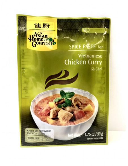 ASIAN HOME GOURMET SPICE PASTE FOR VIETNAMESE CHICKEN CURRY - 50g