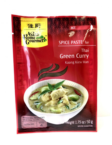 ASIAN HOME GOURMET SPICE PASTE FOR THAI GREEN CURRY - 50g