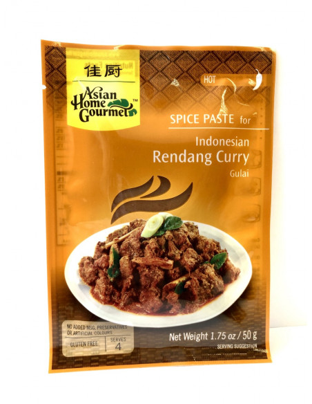 ASIAN HOME GOURMET SPICE PASTE FOR INDONESIAN RENDANG CURRY - 50g