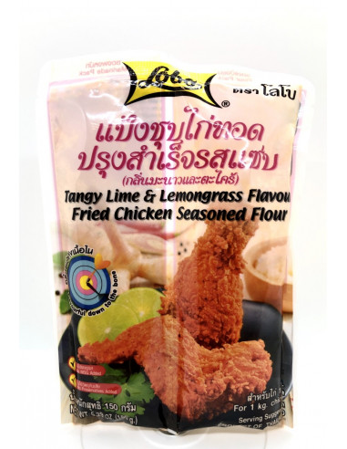 LOBO TANGY LIME&LEMONGRASS FLAVOUR FRIED CHICKEN SEASONED FLOUR - 150g
