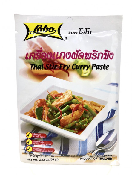 LOBO THAI STRI-FRY CURRY PASTE - 60g