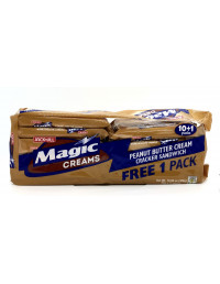 JACK&JILL MAGIC FLAKES PEANUT BUTTER FLAVOUR CREAM IN CHOCOLATE FLAVOUR CRACKER SANDWISH - 10X30g
