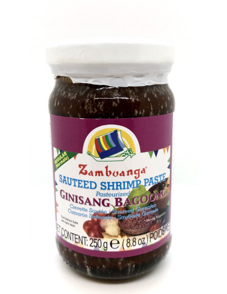 BUENAS ZAMBOANGA BAGOONG PASTEURISED SAUTEED SHRIMP PASTE REGULAR - 250g
