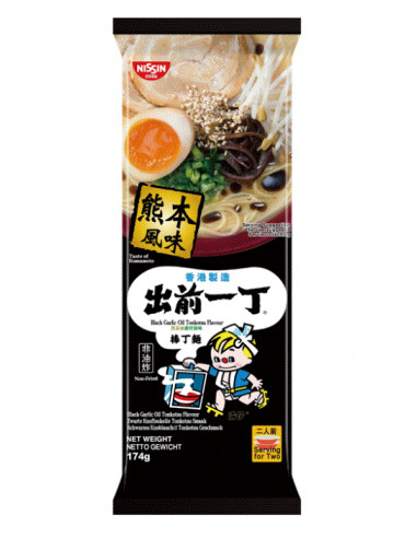 Nissin Demae Ramen Bar Noodle - Black Garlic Oil Tonkotsu Flavour - 174g