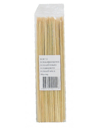 25cm Bamboo Skewers - 100PCS