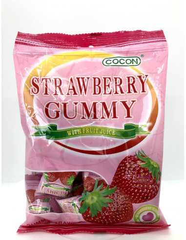 COCON STRAWBERRY CUMMY WITH FRUIT JUICE - 100g