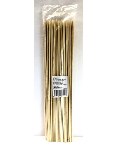 40cm BAMBOO SKEWER - 100pcs
