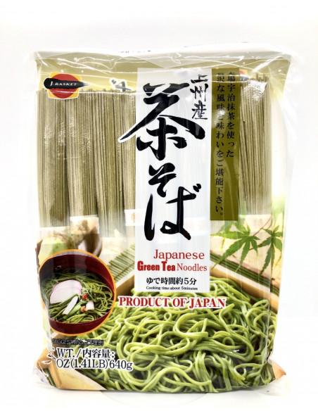 J-BASKET DRIED GREEN TEA NOODLES (CHASOBA) - 640g
